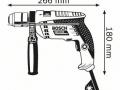 trapano BOSCH modello GSB 13 RE schema